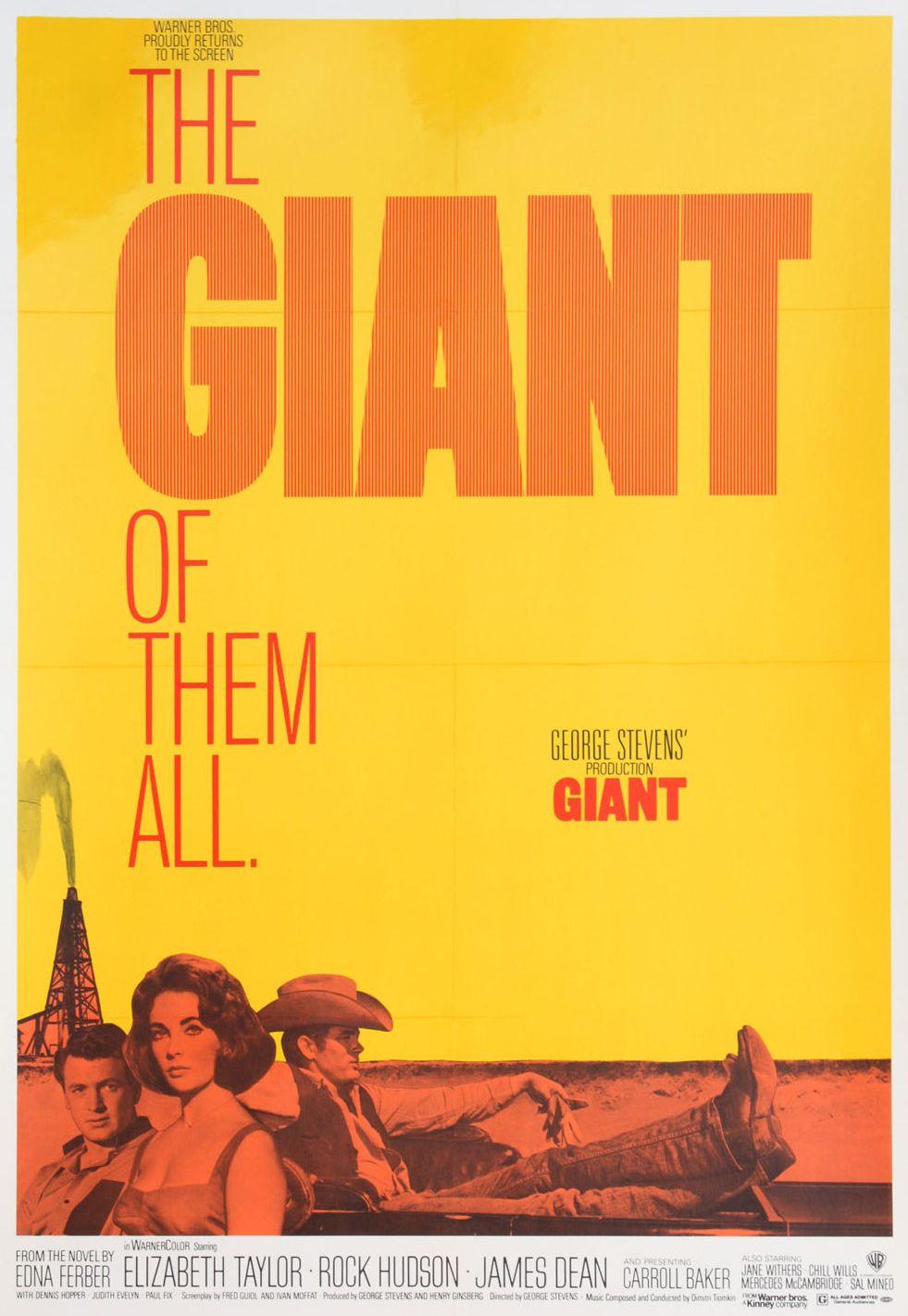 George Stevens' Giant (1956) starring Elizabeth Taylor ...