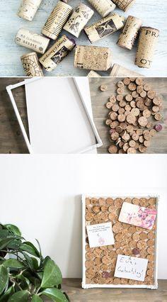 diy upcycling idee pinnwand aus korken do it yourself deko einrichtung handmade pinboard. Black Bedroom Furniture Sets. Home Design Ideas