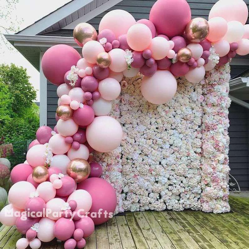 Balloon garland kit 4m 6m jumbo diy kit white and gold