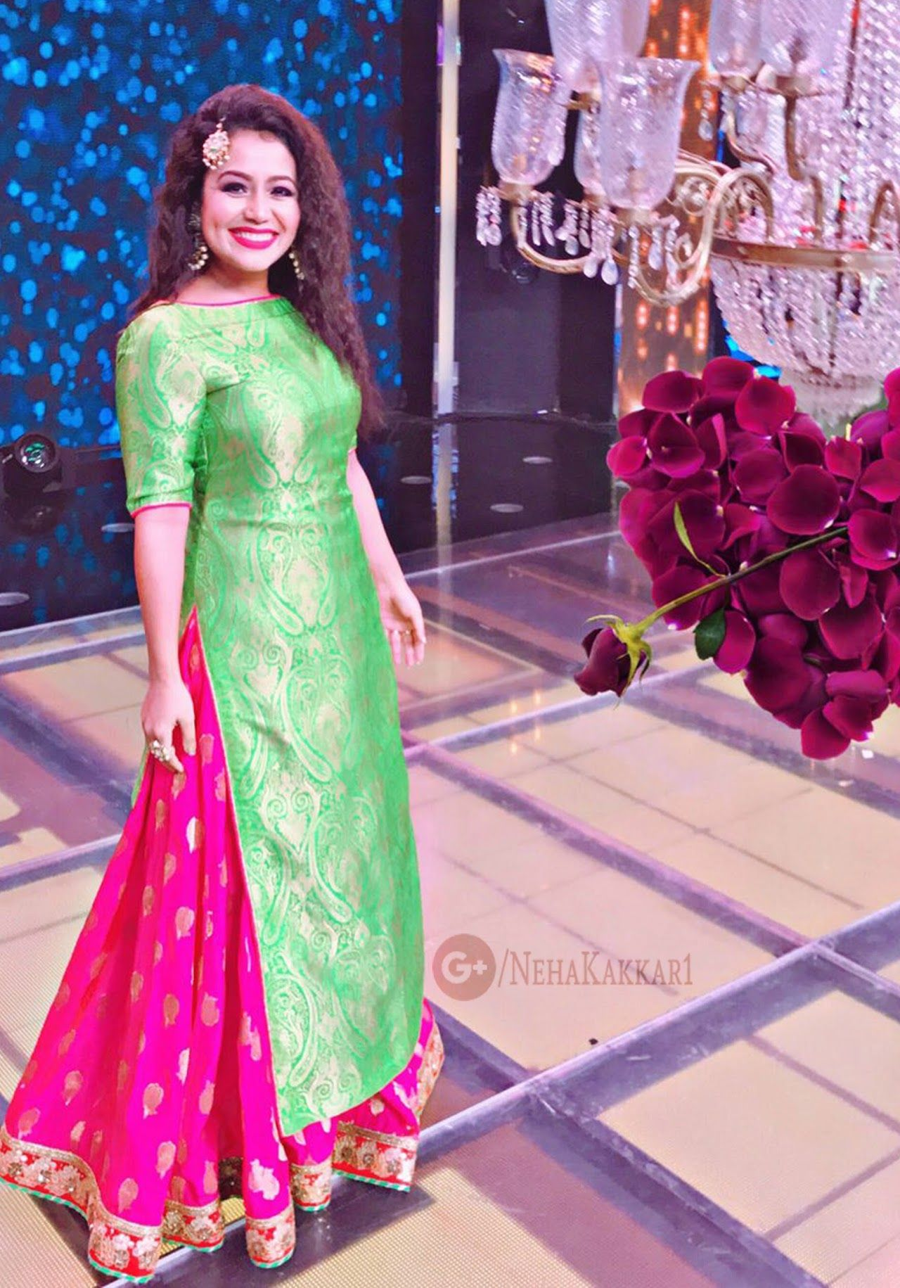 Pink dress to wear to a wedding  Pin by Pam Kaur on Indian fashion  Pinterest  Neha kakkar Eid and