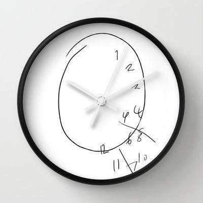 Will Graham The Clock Wall Clock By River 30 00 Wall Clock Clock Grey Wall Clocks