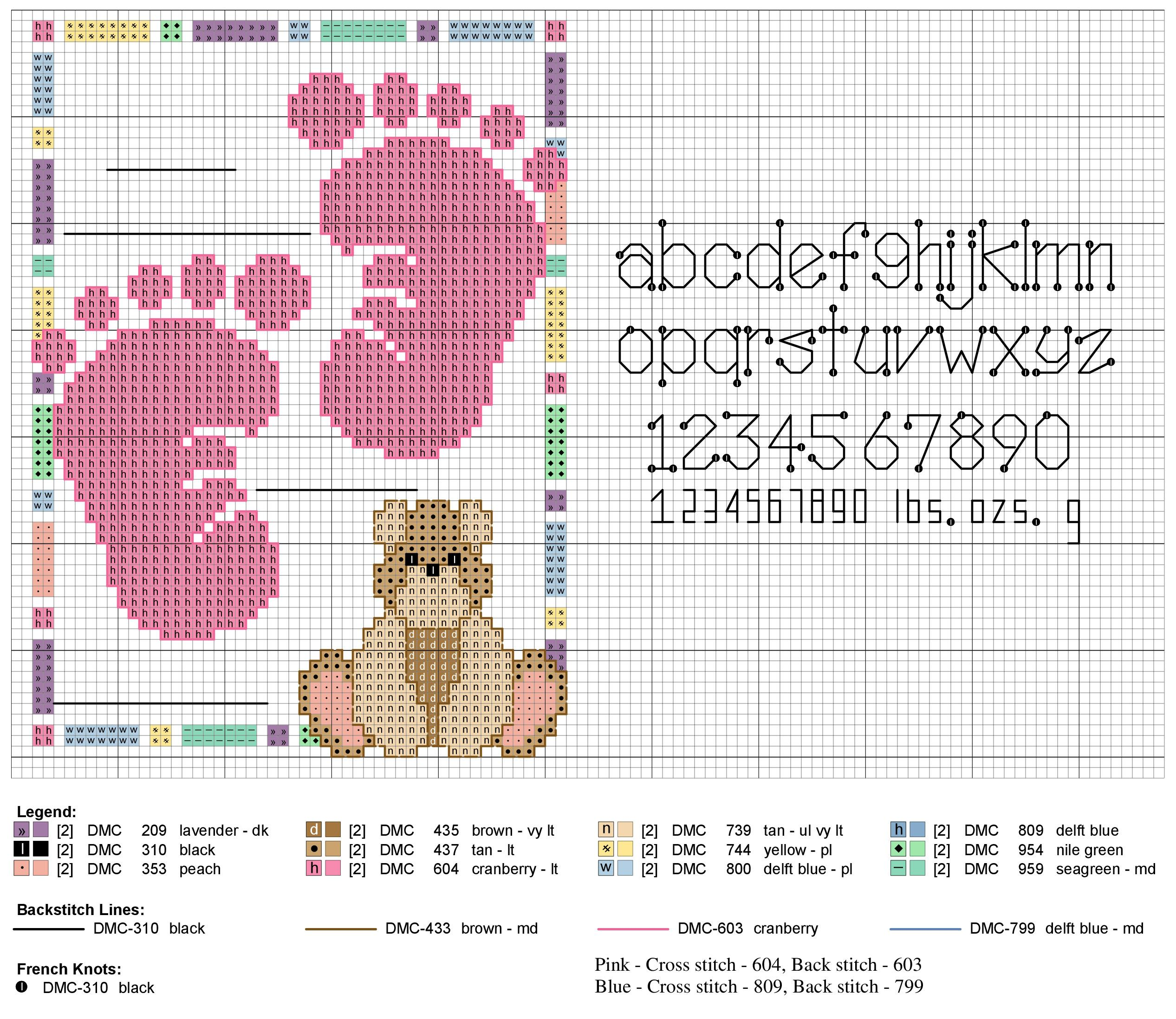 Baby Footprints Birth Sampler