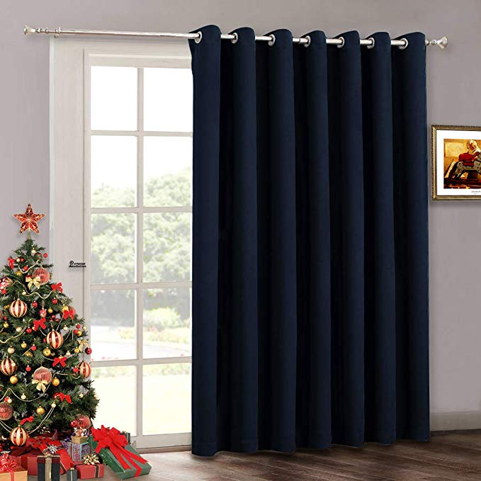 Amazon Com Ryb Home Curtains 84 Inch Length Grommet Sliding Door Curtains Blackout For Patio Door Thermal In 2020 With Images Door Curtains Sliding Door Curtains Home Curtains