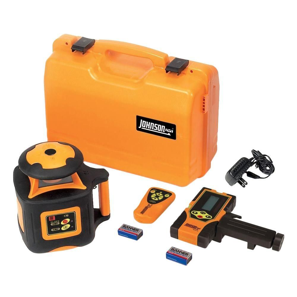 Johnson Electronic Self Leveling Horizontal Rotary Laser Level Rotary Recycling Programs Outdoor Jobs