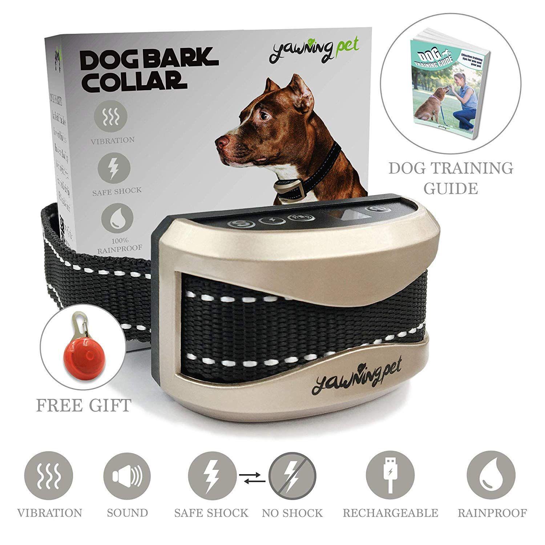 Anti Bark Training Collar Vibration Shock Beep Usb
