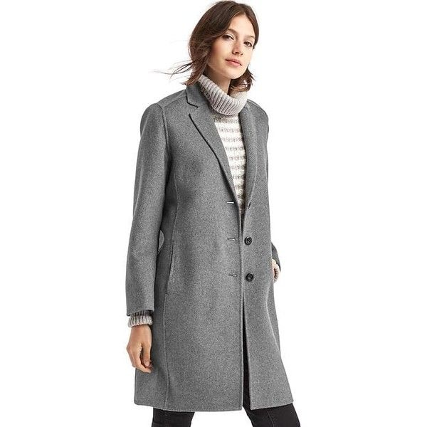 Gap Women Double Face Car Coat ($228) ❤ liked on Polyvore ...