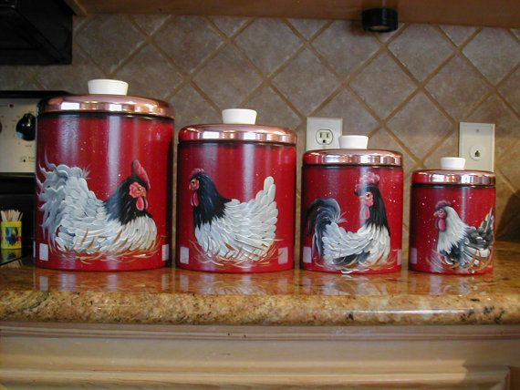 rooster motif canister set rooster kitchen decor wine decor kitchen on kitchen decor pitchers carafes id=19478