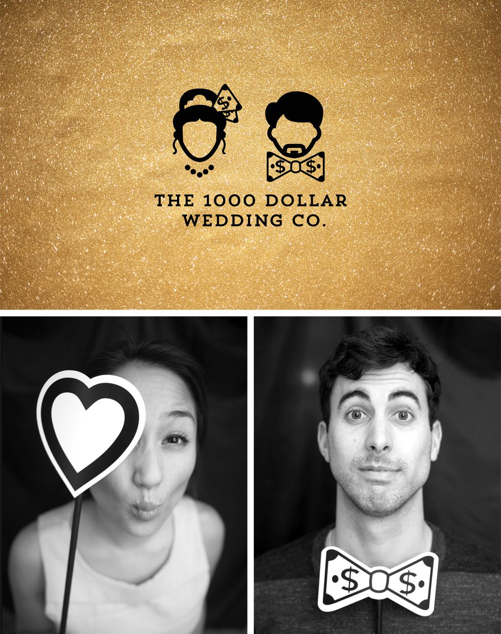 1000 Dollar Wedding Co Logo Mascot Design For Event Planning Branding With Gold Glitz And Glitter By Fuze Branding Branding Mascot Design Visual Branding