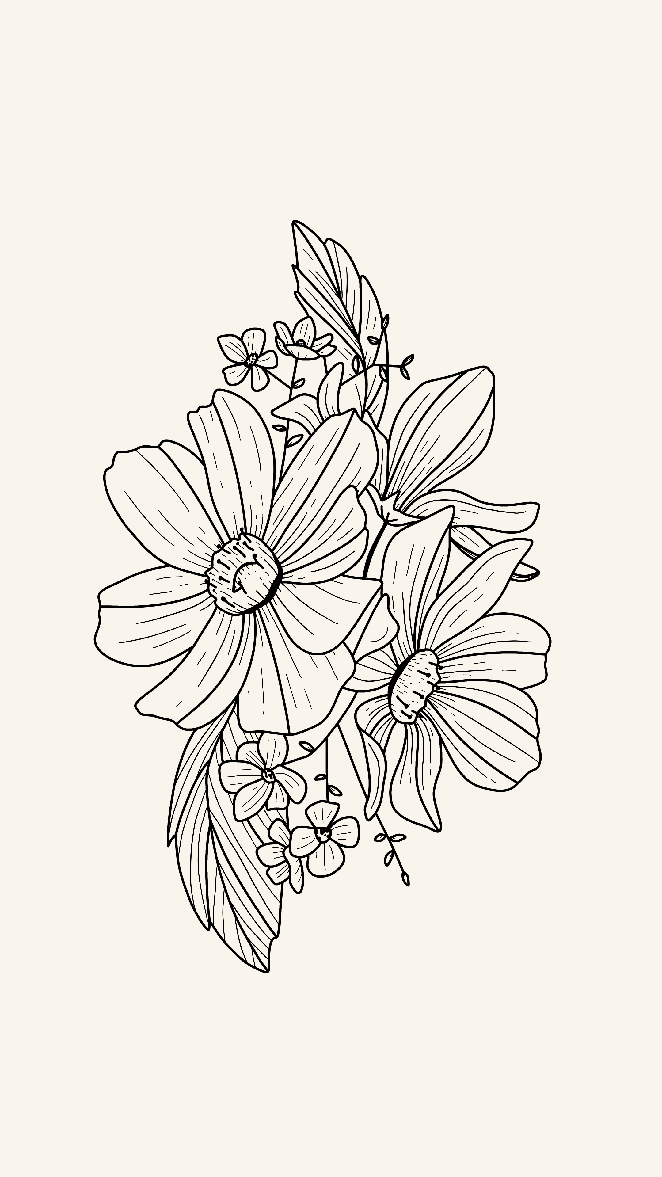 My May Flowers Line Art Flowers Floral Tattoo Design Line Art Drawings