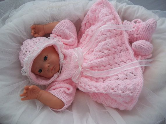 Baby Girls Download Pdf Knitting Pattern Rianna Knitted Baby
