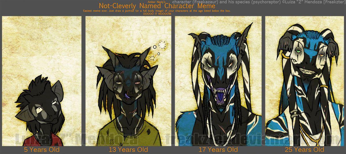 Character Age Meme By Freakzter Deviantart Com Character Character Inspiration Art