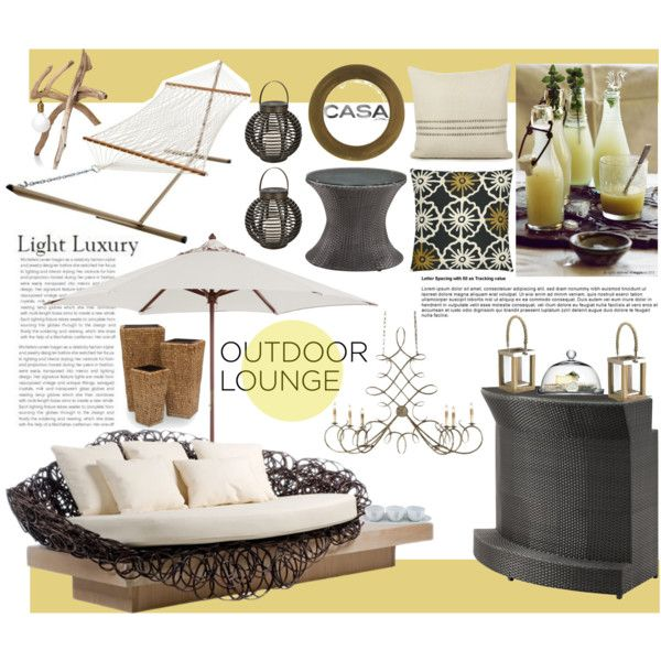 Casa Outdoor Lounge Collection by lisajean1957 on Polyvore featuring polyvore, interior, interiors, interior design, home, home decor, interior decorating, Pawleys Island, TropiShade and MANGO