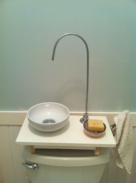 japanese toilet with sink. DIY Toilet Tank Sink by NetLawyer  via Flickr Create a Japanese of your Flush toilet and Sinks