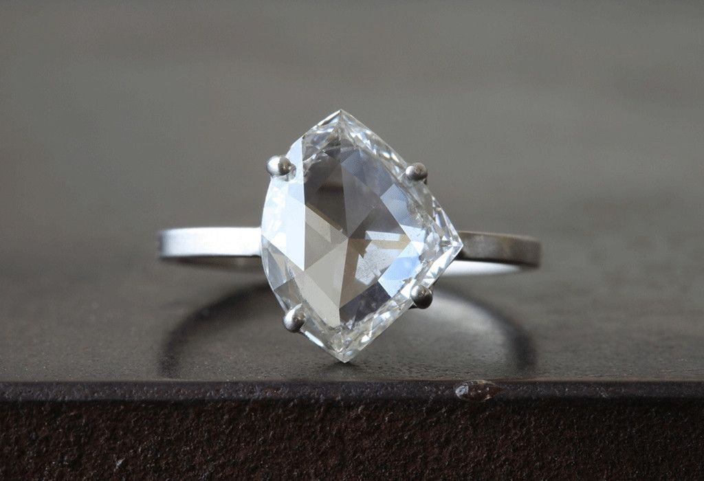 most perfect ring ever : Custom Clear -White Rose Cut Diamond Ring