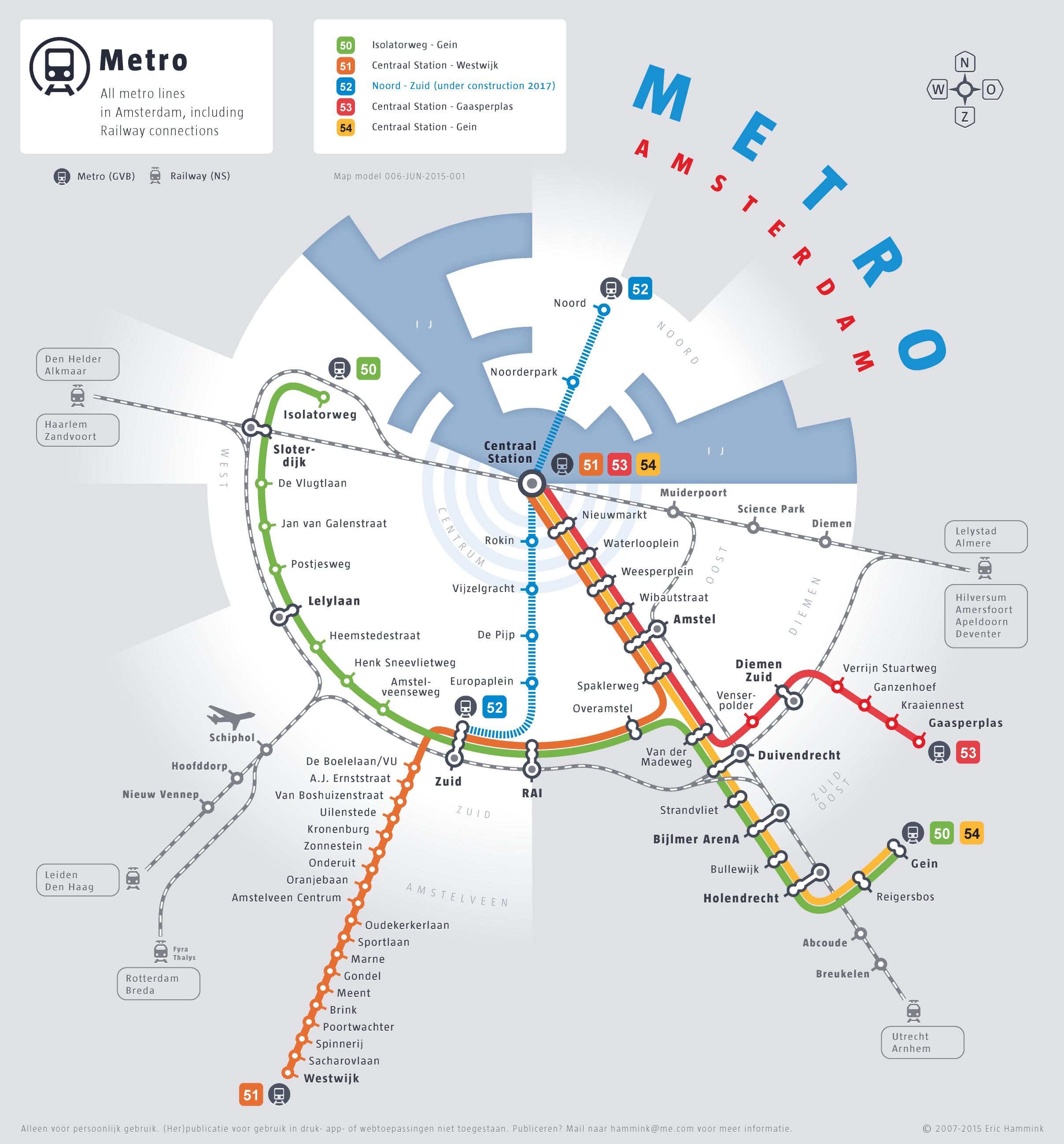 Ams Subway Map.Circulair Metro Map Of Amsterdam 2015 Edition First Edition Made