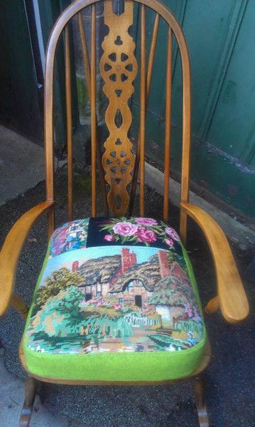 Vintage Tapestry | Eclectic Chair Upholstery
