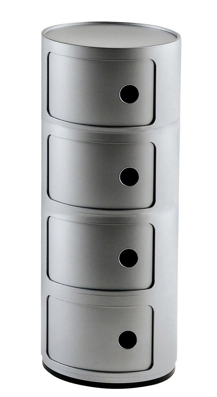 Rangement Componibili Kartell Gris Argent Made In Design En 2020 Kartell Gris Argent Rangement