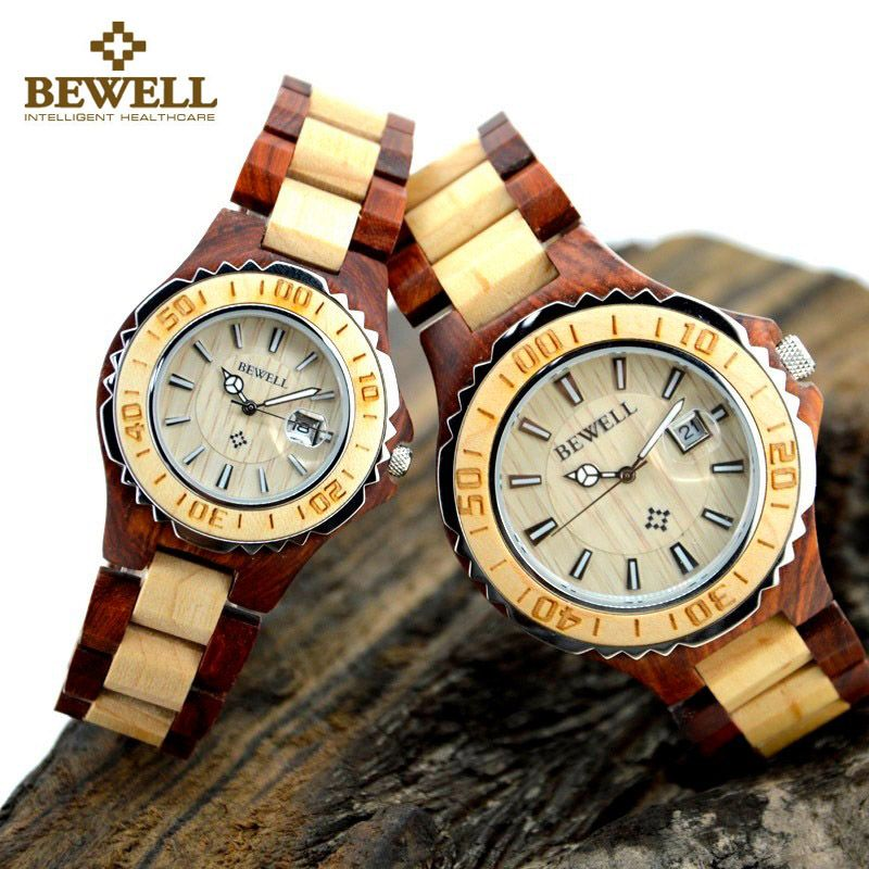 Perfect #mensgifts Wooden Design #Watches Big Sale http://timecreatives.com/bewell-mens-and-womens-wooden-watch-luxury-couple-set/ Trendy Fashion Design Watches - TimeCreatives    #woodenwatch #fashionwatches
