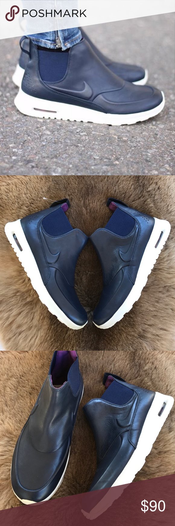 6b4bdd9473 Lighter · Running Shoes · Silhouette · Meet · NWT Nike Thea mid navy Brand  new no box lid ,no trades price is firm