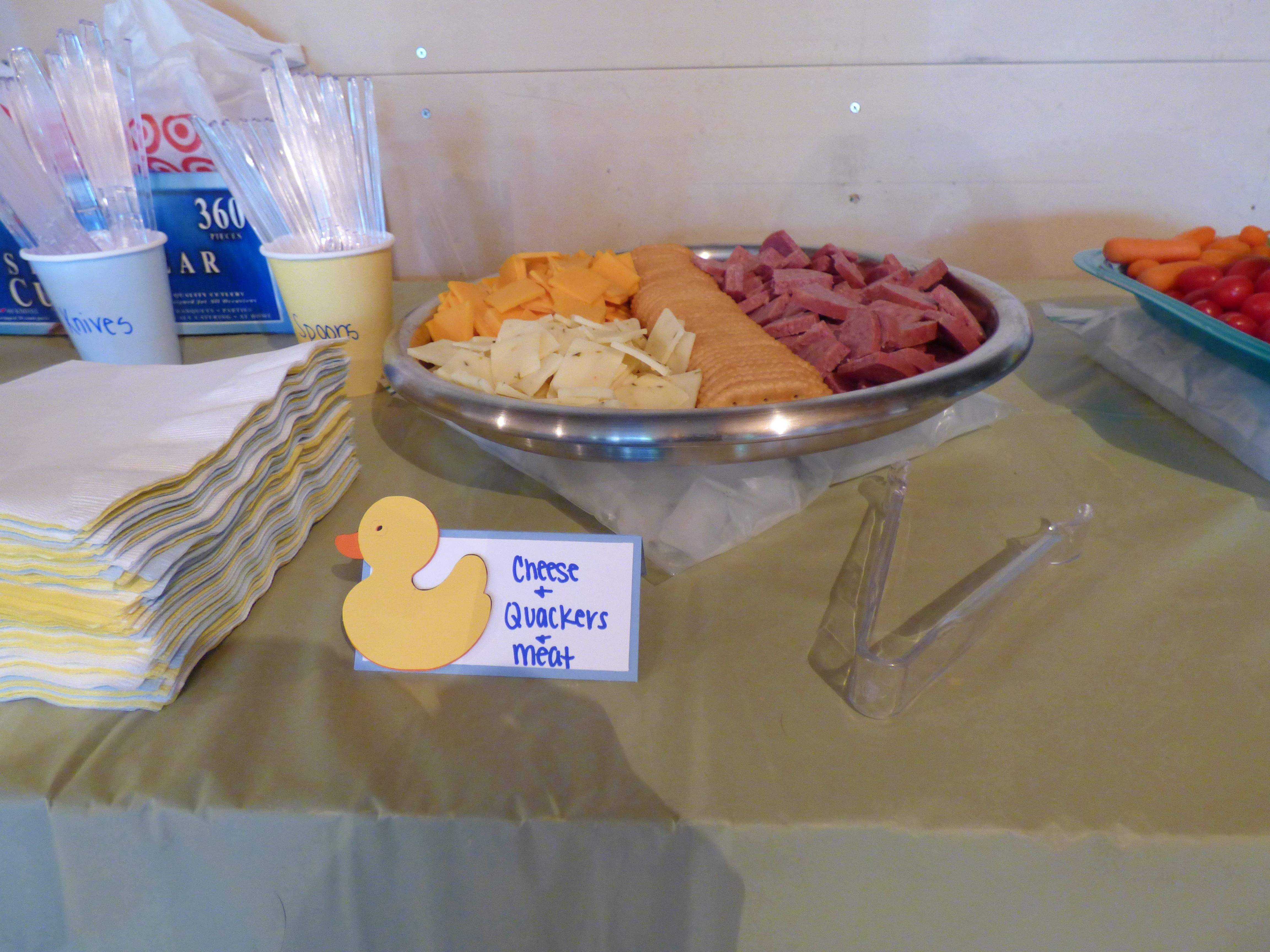 Rubber duck theme birthday party food idea