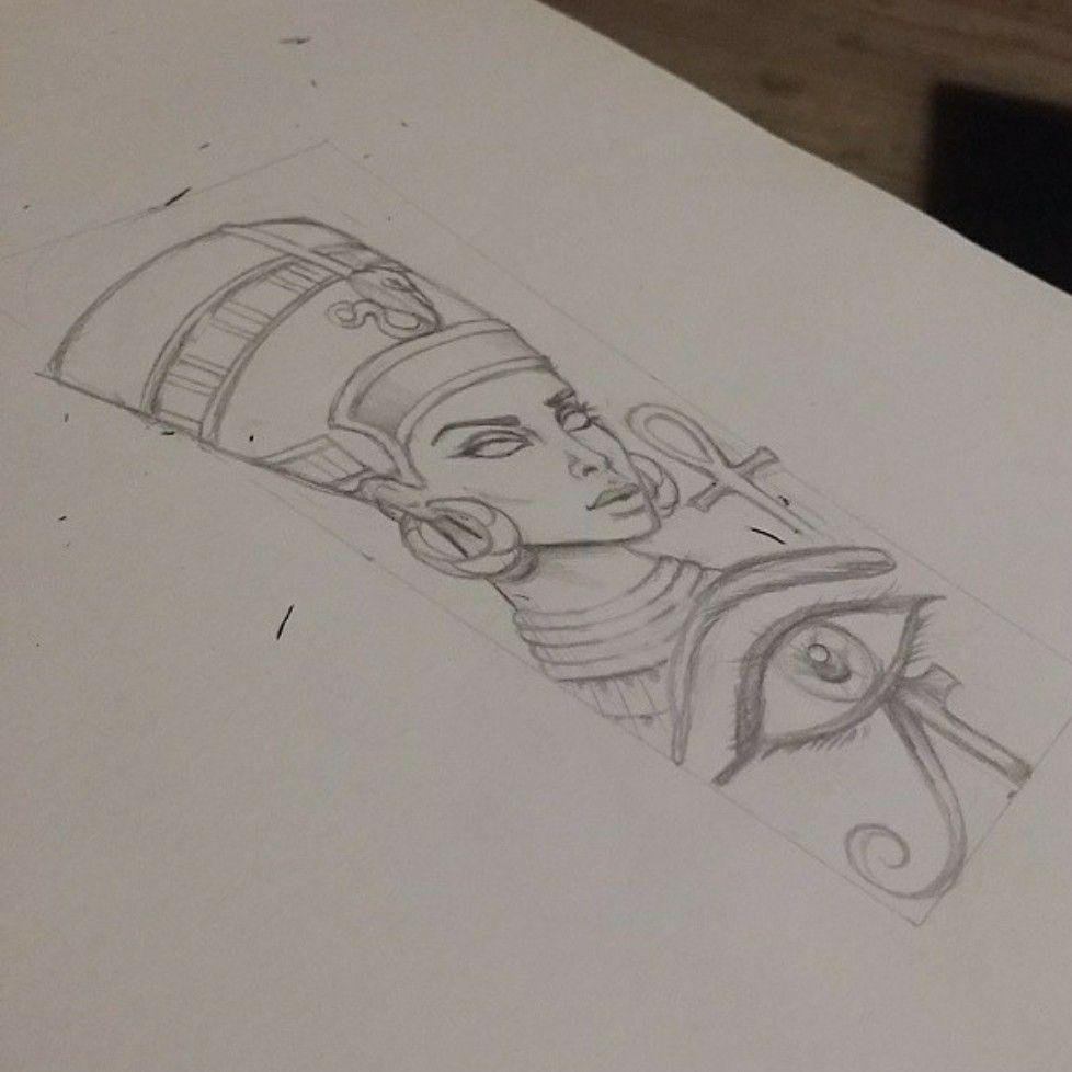 | say hello to Nefertiti hunty. #design #drawing #art # ... |Nefertiti Tattoo Drawing
