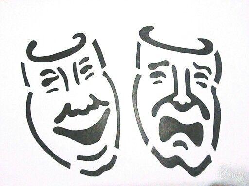Mascaras De Teatro Mascaras Teatro Mascaras Dibujos