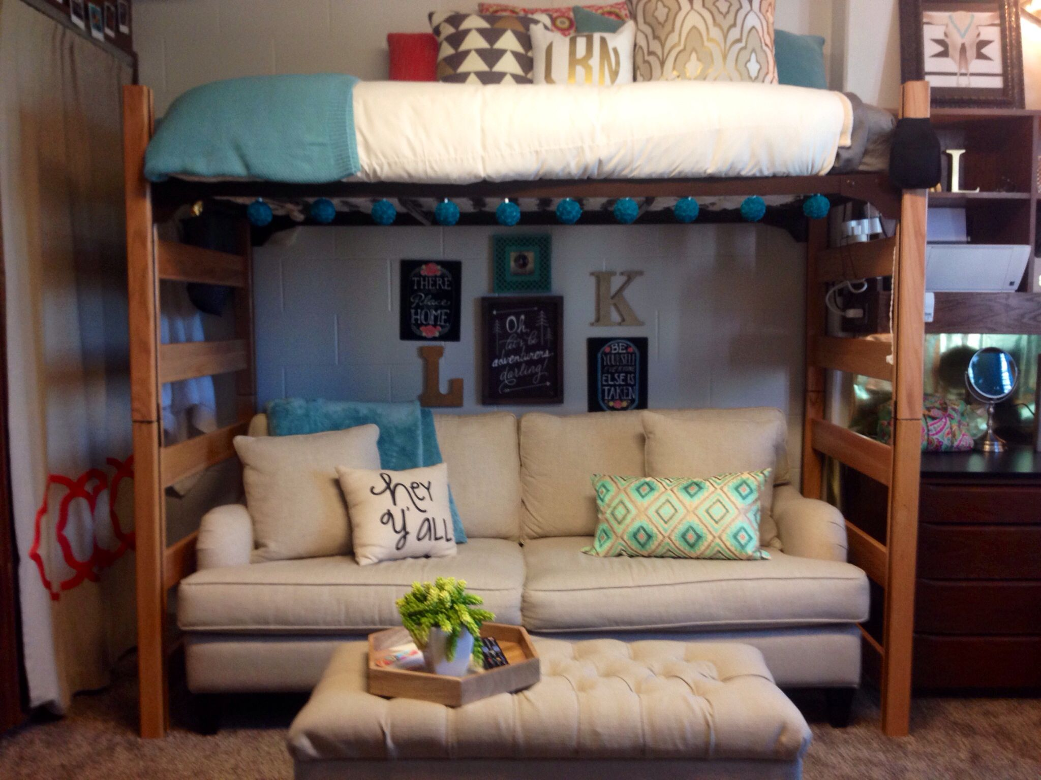 Dorms Decor · I Like The Couch Under The Bunk. Itu0027s A Pretty Cool Setup! Part 27