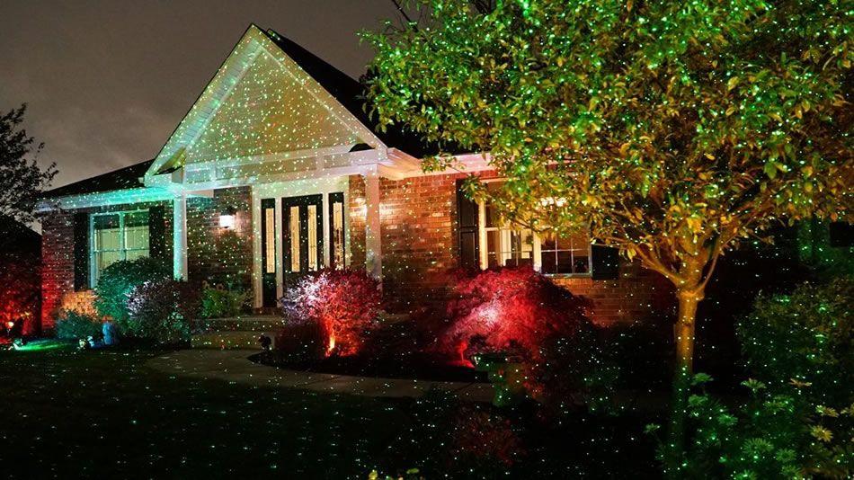 Star Shower Outdoor Laser Christmas Light Projects Cheer On Your Home Laser Christmas Lights Christmas Lights Inside Christmas Light Projector