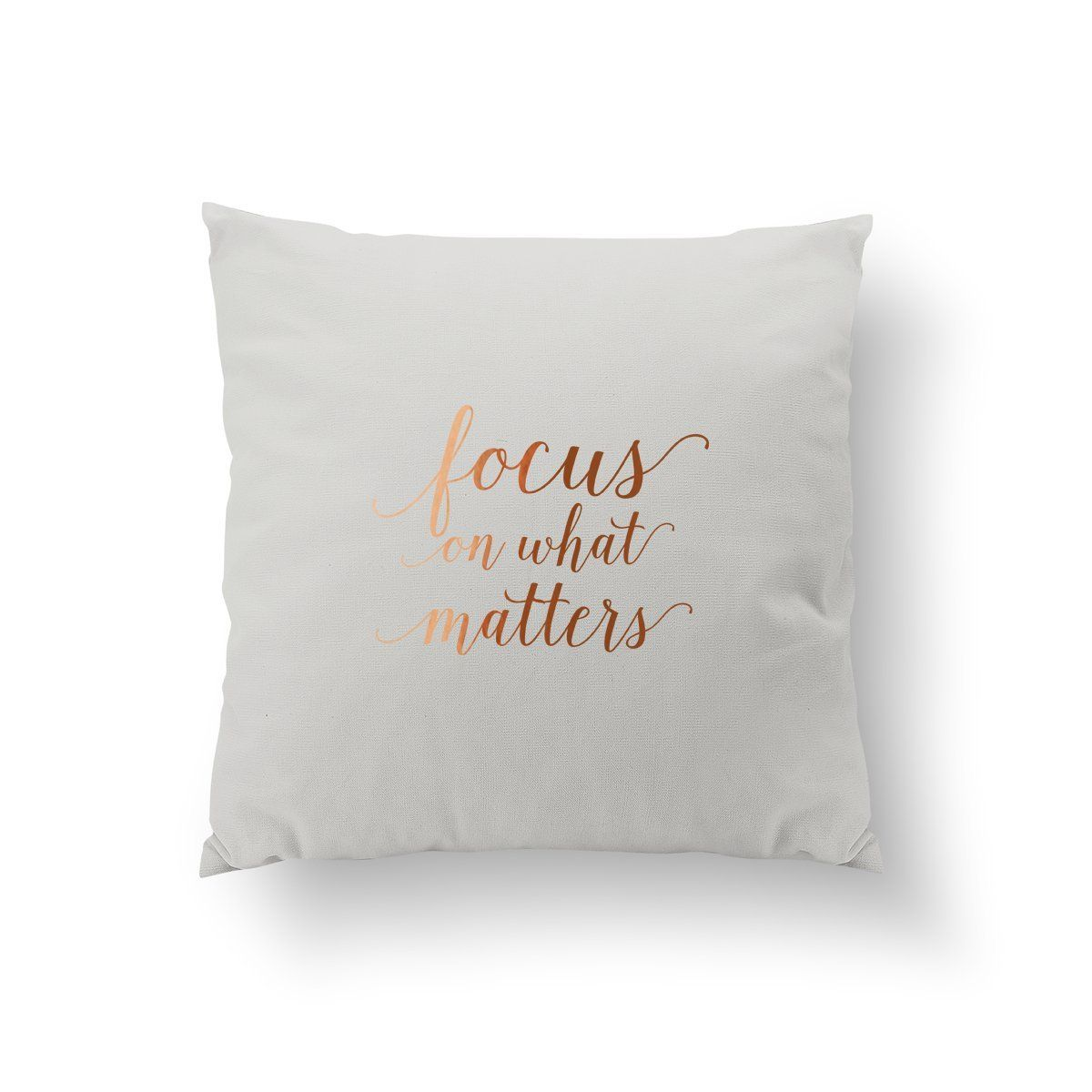 Focus On What Matters Pillow Typography Pillow