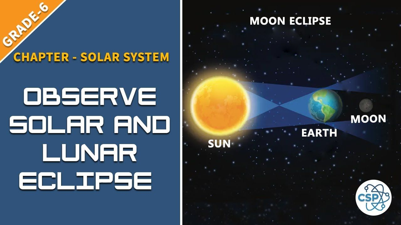 To Observe The Solar Eclipse And Lunar Eclipse Class 6 In 2020 Lunar Eclipse Solar Eclipse Light Class