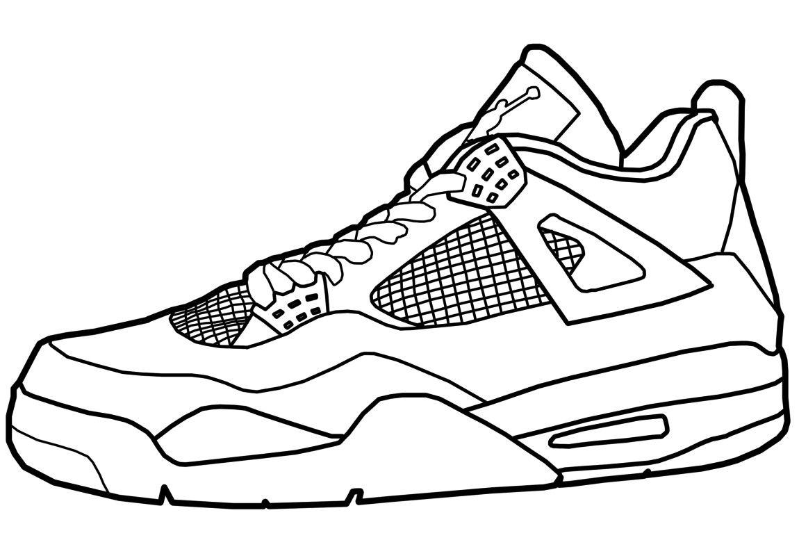 Shoe Coloring Pages Jordans