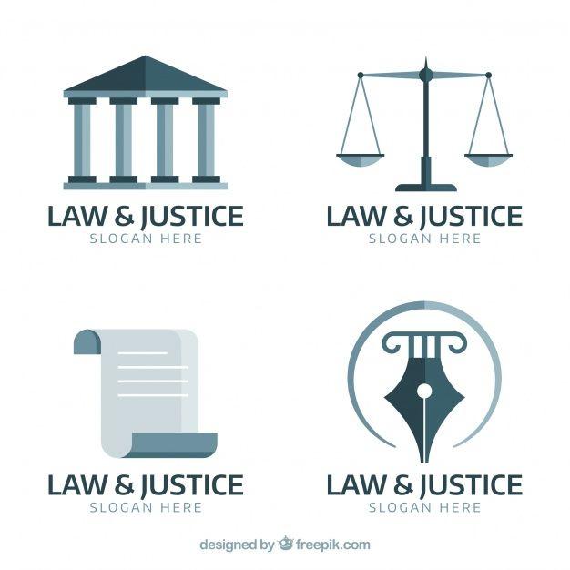 Set de logotipos de derecho vector gratu  Free Vector