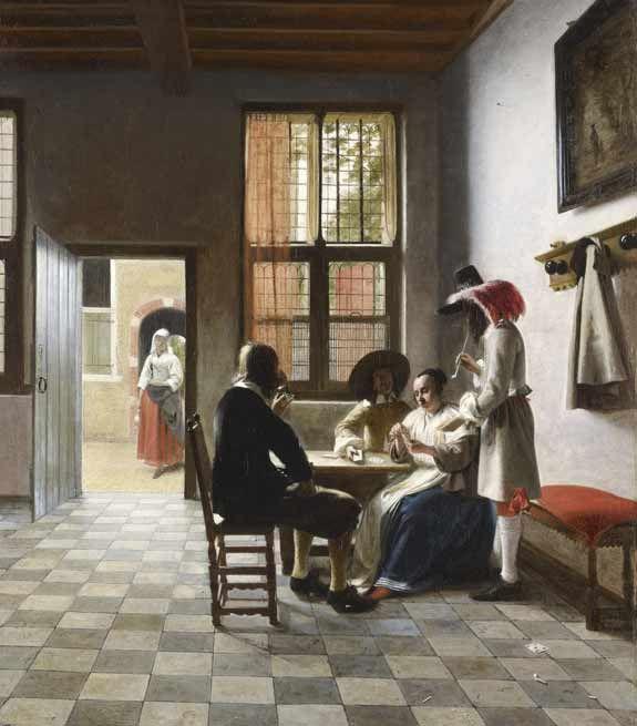 Sol de la maison... carrelage - ©Pieter de Hooch - 1629-1684