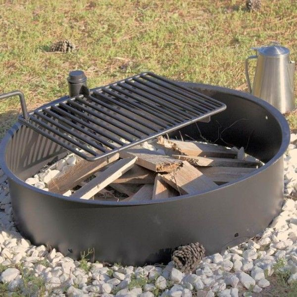 """32"""" Steel Fire Ring with Cooking Grate 