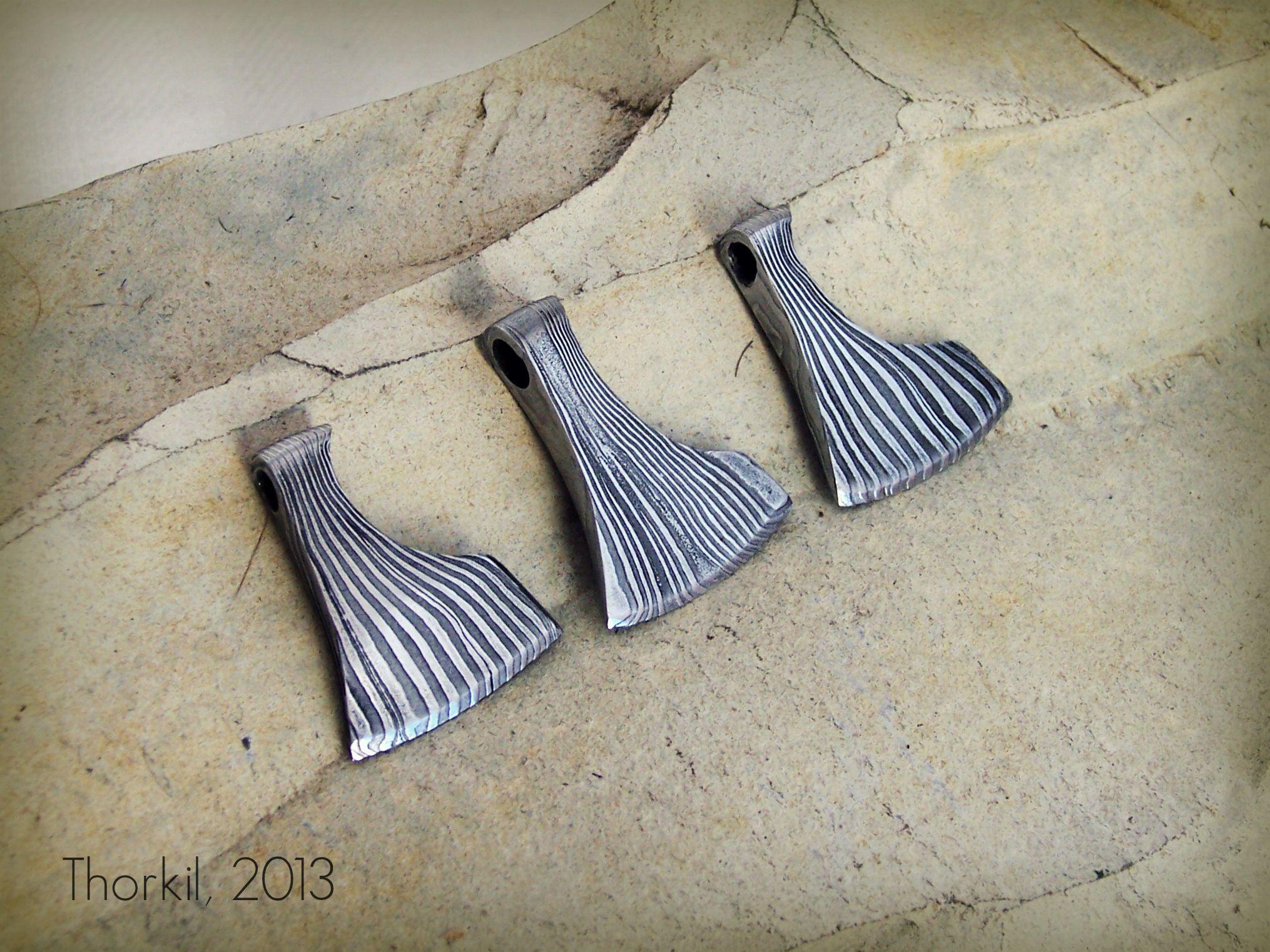Pattern-welded steel pendants : Axe of Perun, €33,75