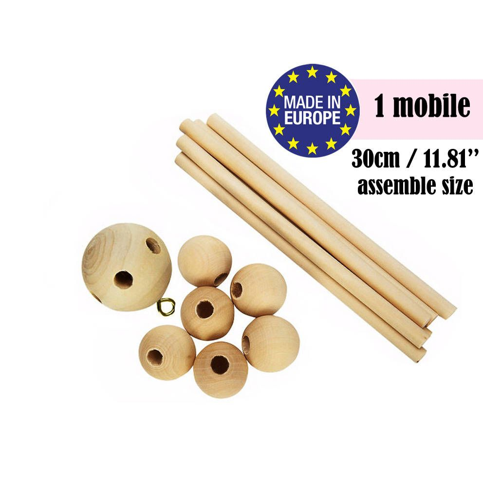 Baby Mobile Nursery Wooden Kit Crib Diy 120027 From Kinderklipz