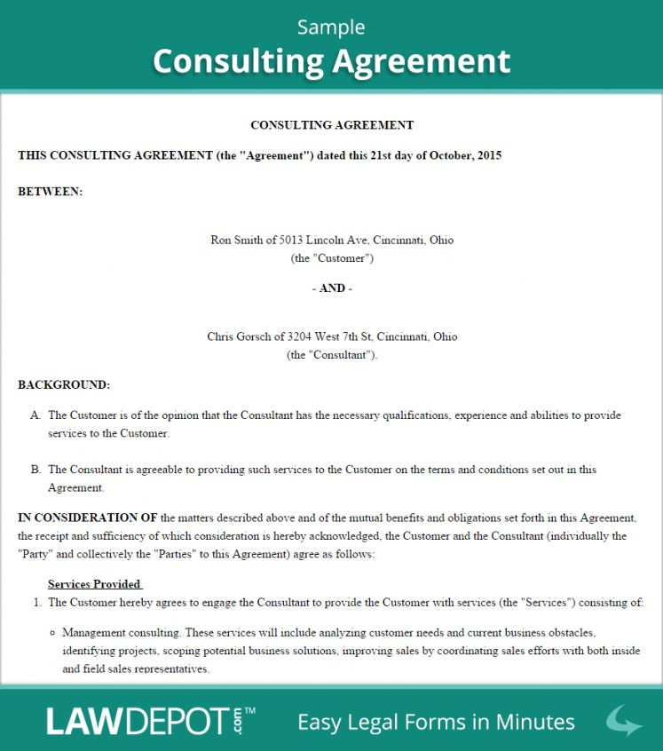Explore Our Sample Of Consulting Retainer Agreement Template Contract Template Schedule Template Marketing Consultant