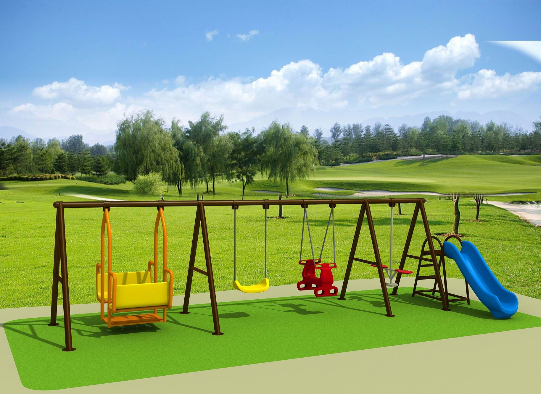 deluxe outdoor playground swing set a great combination of swings