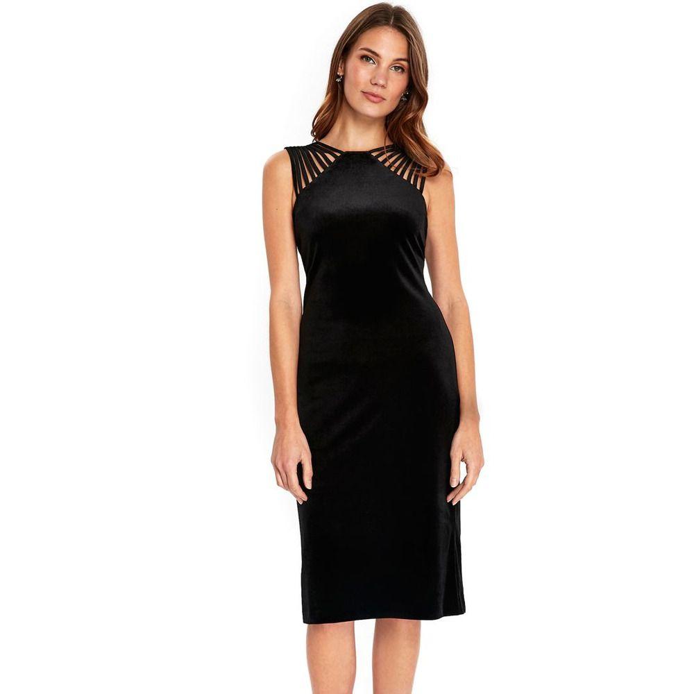 Wallis Black Velvet Detailed Shoulder Dress Size Uk 12 Rrp 60 Dh181 Dd 17 Fashion Clothing Shoes Accessories Wom Dresses Shift Dresses Uk Lace Shift Dress