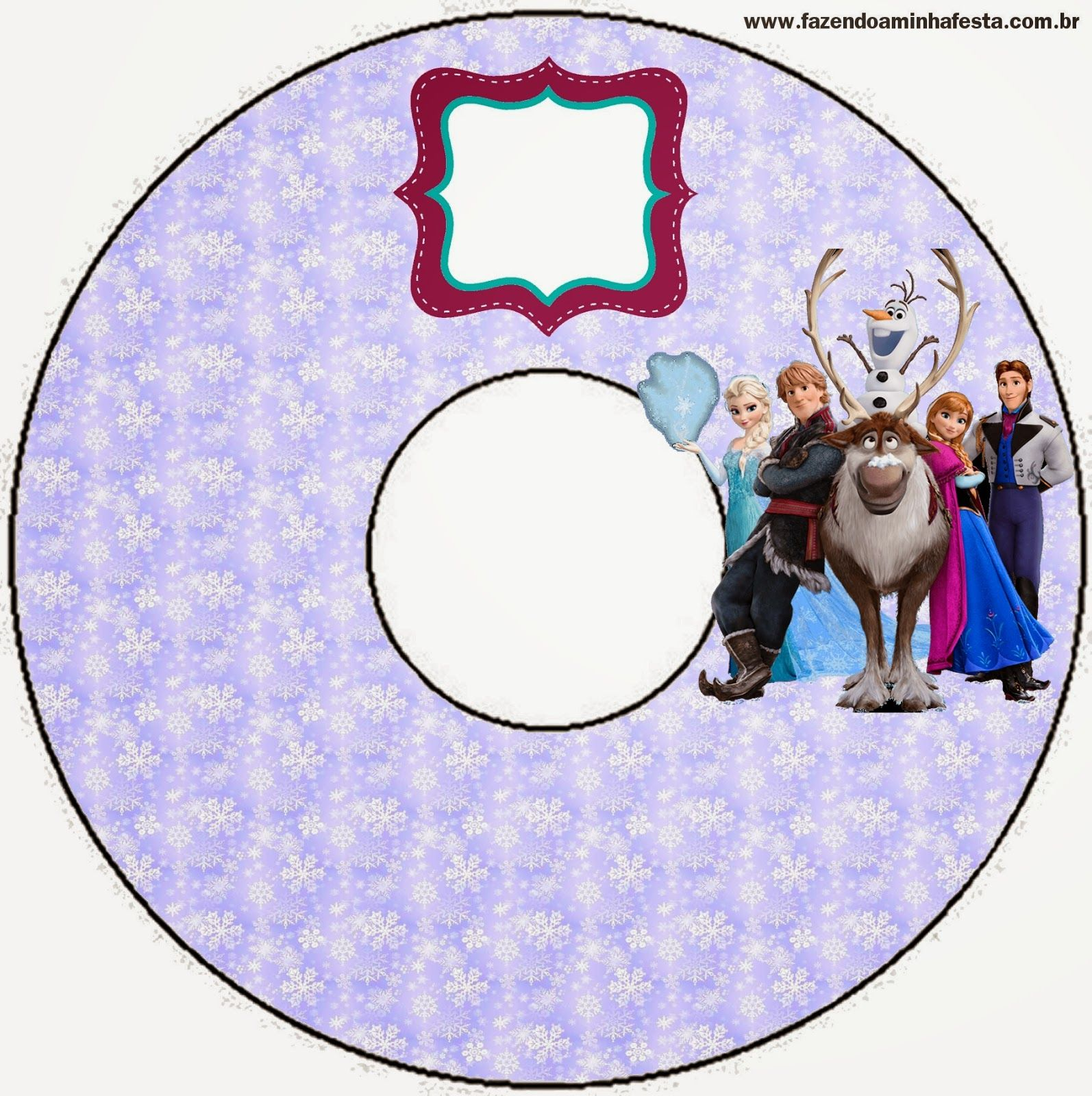 Free Printable CD Label. | Frozen Birthday Party | Pinterest ...