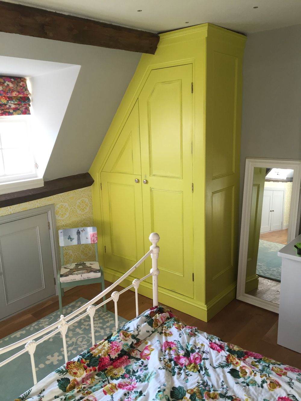 Wardrobe constructed with mdf and planed redwood timber. Painted in ...