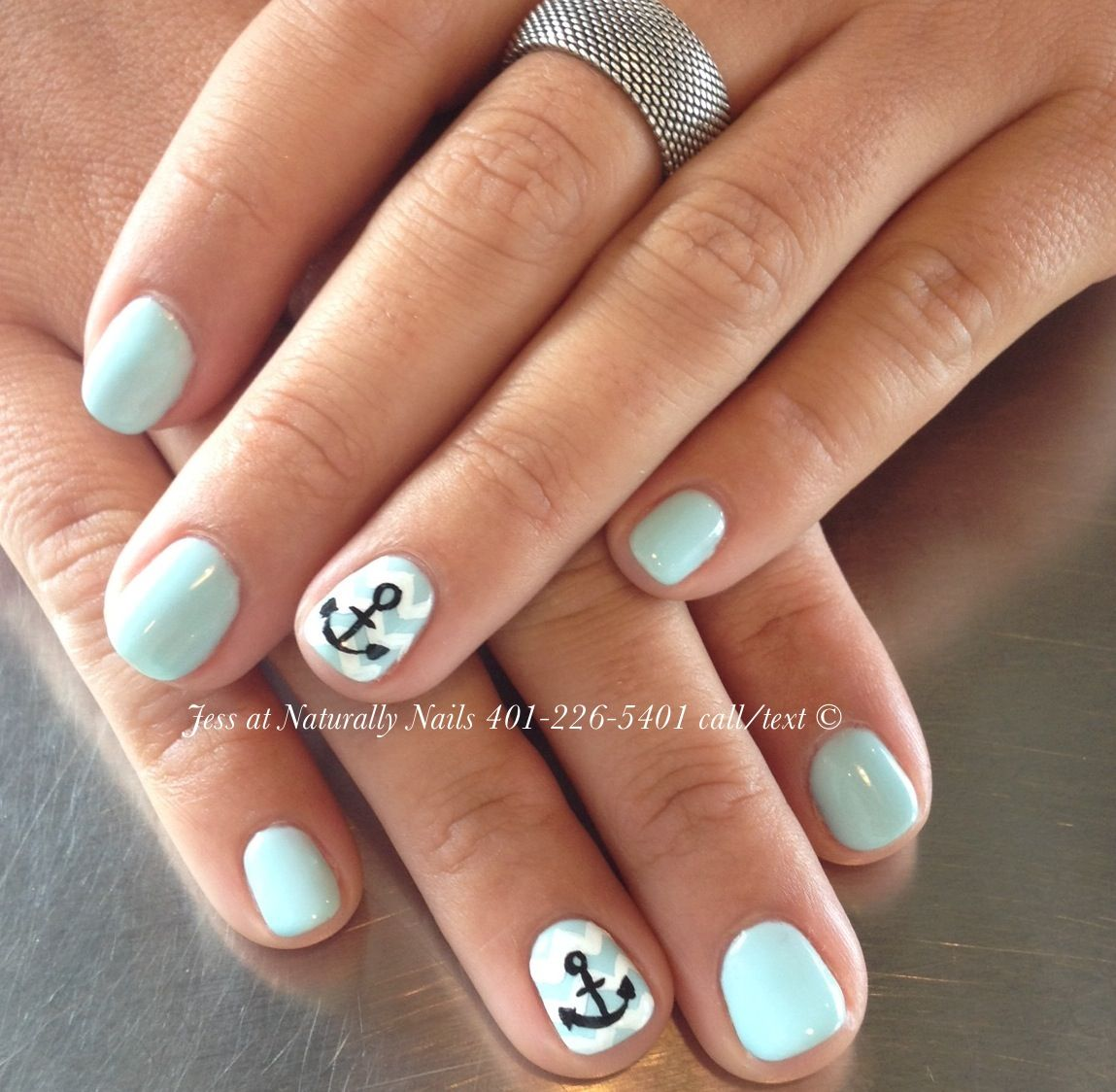Gel manicure by Jess at naturally nails. www.naturallynailseg.com ...