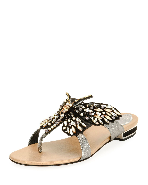René Caovilla Rene Caovilla Jewel-Embellished Slide Sandals cheap sale how much geniue stockist sale online cheap order eDExUR