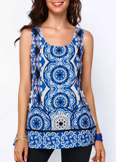 Sleeveless Top - Blue Shell by VIDA VIDA Classic For Sale Sale Cost Lowest Price Cheap Online ivcFAQ3