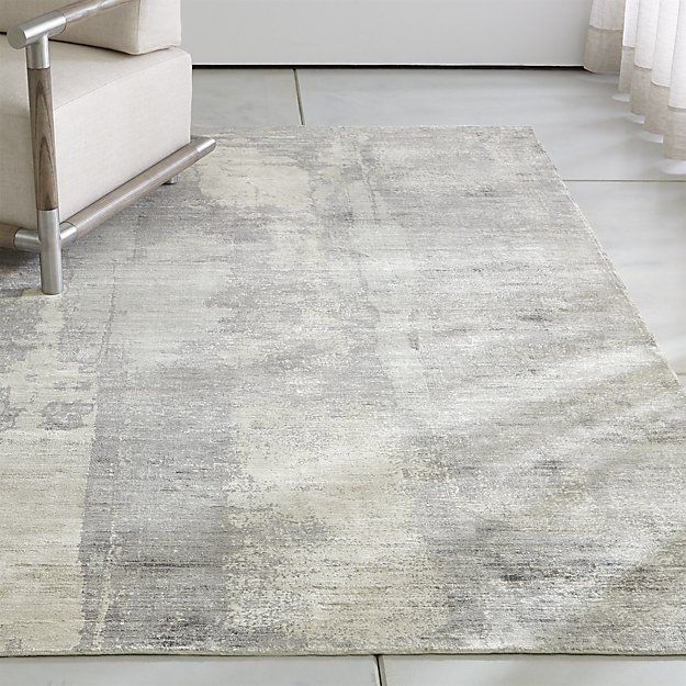 Tottori Grey Abstract Rug Crate And Barrel Crate