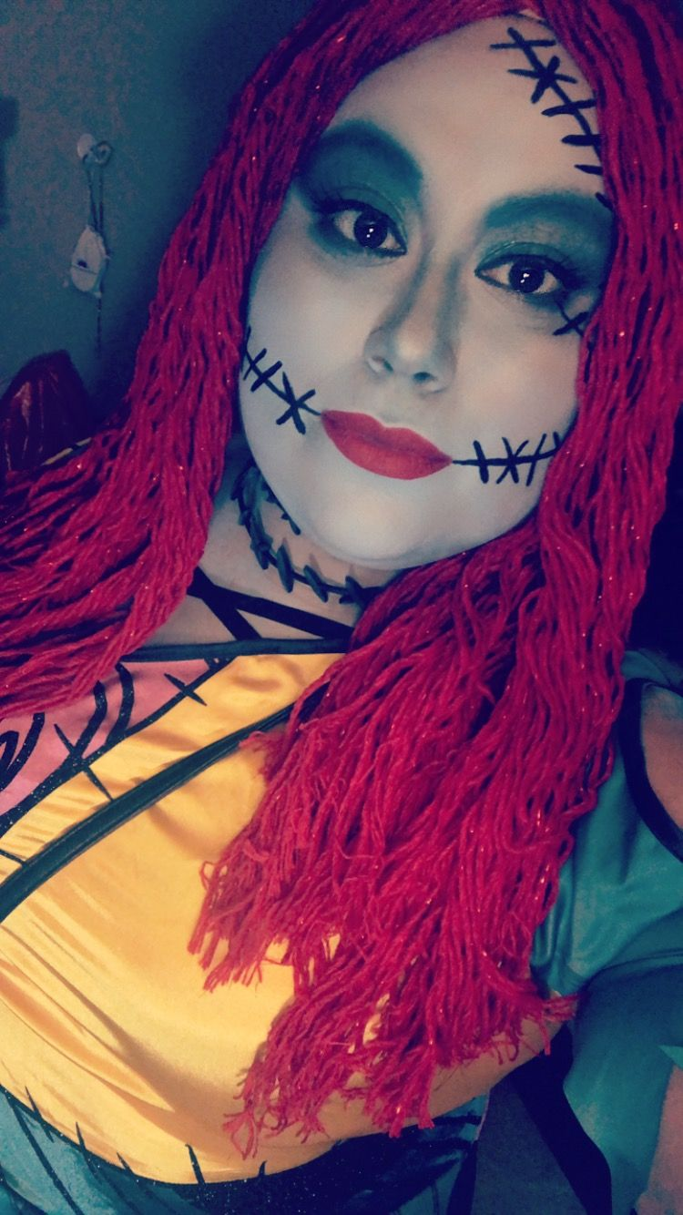 Sally from Nightmare Before Christmas Make up Halloween