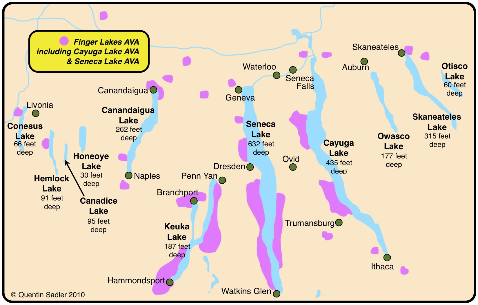 The finger lakes finger lakes map the finger lakes new york lakes sciox Gallery
