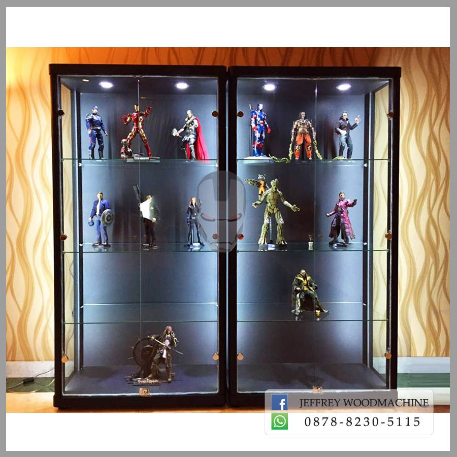 "Acrylic Wall Mount Double Action Figure Display Case Box 12/"" 1:6  Scale 1//6"