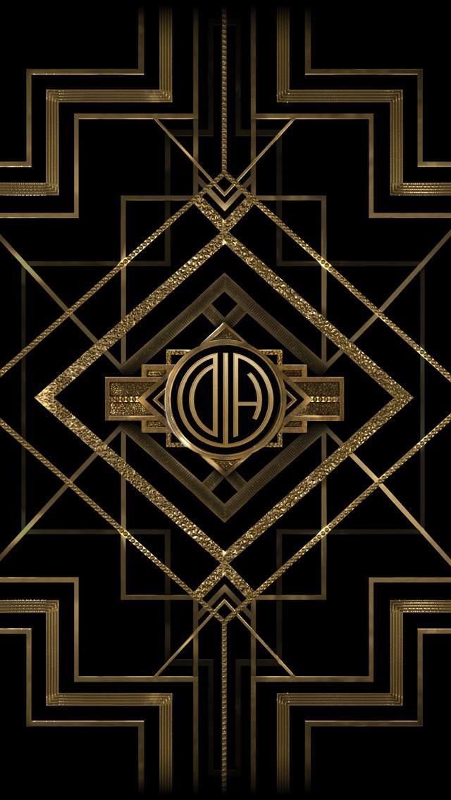 Get Your The Great Gatsby Monogram Mobile Wallpaper From Appswarnerbros Greatgatsby Monogramcreator Us