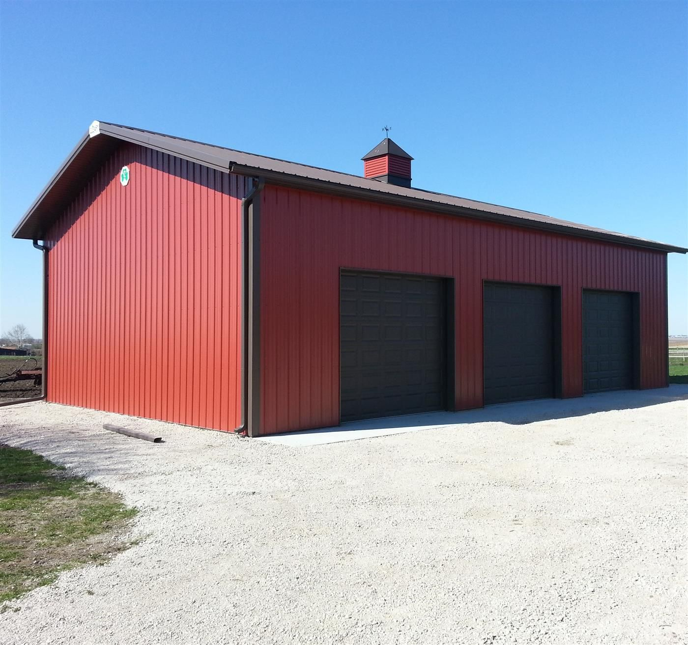Tom S Garage Cleary Buildings Red Houses Pole Barn Designs